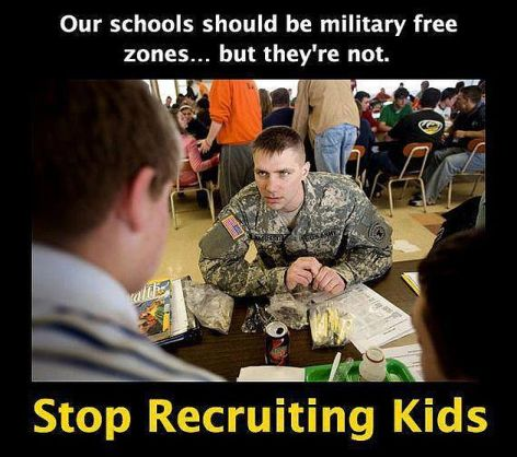 Our Schools Should Be Military Free
