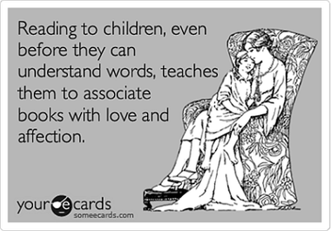 Reading to children even before they