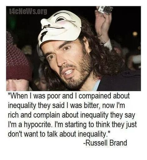 Russell Brand When I Was Poor And