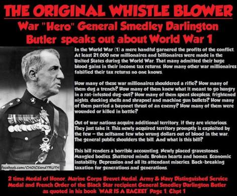 The Original Whistle Blower War Hero General Smedley Darlington Butler