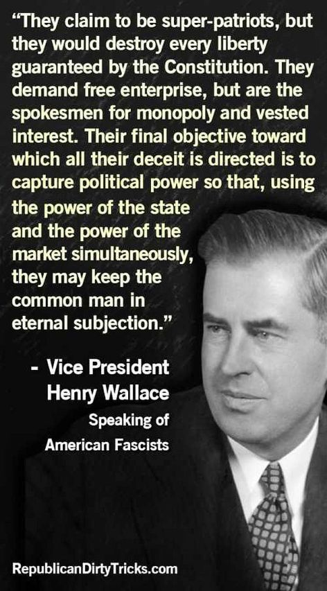 Vice President Henry Wallace They Claim To Be Super Patriots