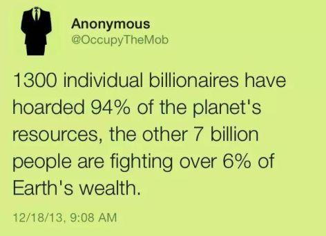 1300 individual billionaires have