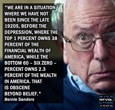 Bernie Sanders we are in a situation