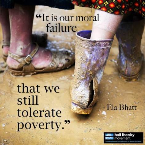 Ela Bhatt it is our moral failure