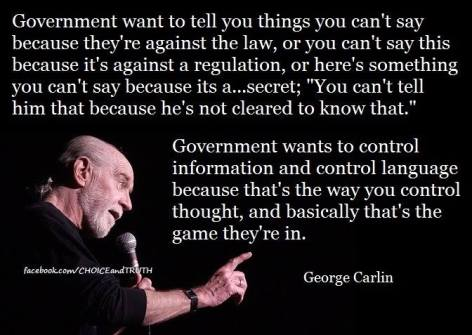 George Carlin government wants to tell