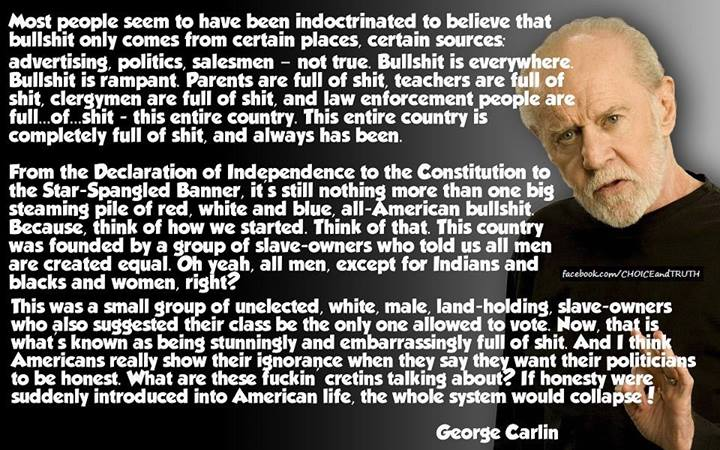 george carlin most people seem to
