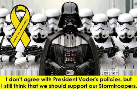 I don't agree with President Vader's