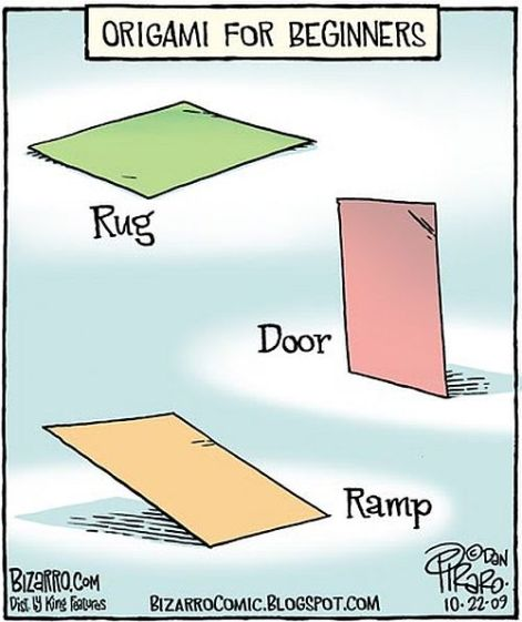 Origami for beginners rug door ramp