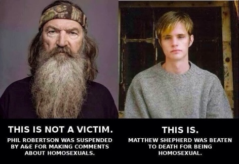 this is not a victim Phil Robertson