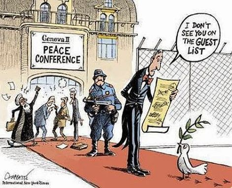 Geneva Peace Conference I don't see you on the guest list