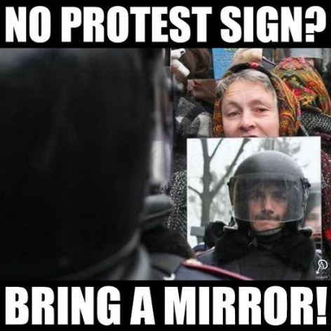 No Protest Sign Bring A Mirror